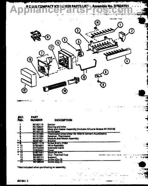 parts  amana sxdmpw pw   cube compact ice maker parts appliancepartsproscom