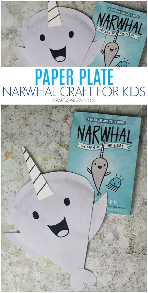 narwhal  jelly paper plate crafts animal crafts