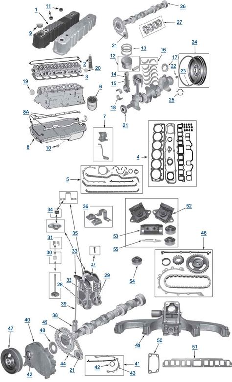 1989 Jeep Yj 4 2 Engine Wiring Diagram by Yj Wrangler 4 2l 6 Cylinder Engine Parts 4 Wheel Parts