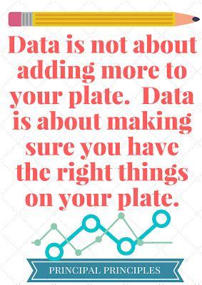 data  improve student achievement principal