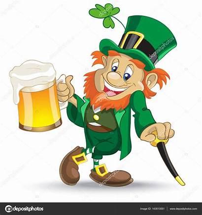 Leprechaun Beer Cup Cane Illustration Vector Patrick