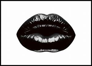 Poster with black lips Stylish, modern prints