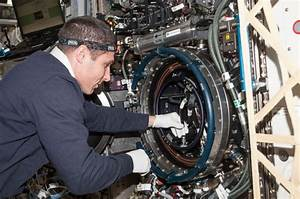 Astronaut Mike Hopkins With Combustion Integrated Rack