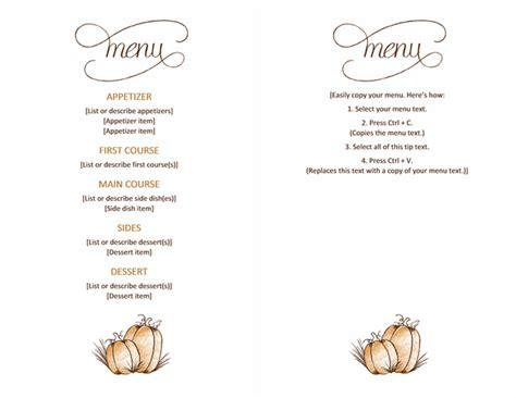 free restaurant menu templates for word free menu template word