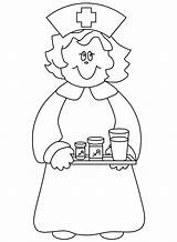 Nurse Coloring Pages Clipart Cartoon Template Doctor Popular Clip Library sketch template