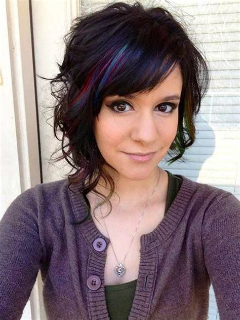 hair style for teenagers asymetric shoulder length hairstyles idea with blue color 5298