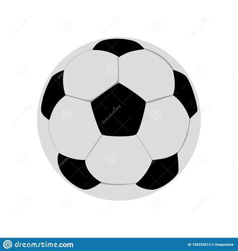 foto de Pallone Da Calcio Vettoriale Isolato Su Sfondo Bianco