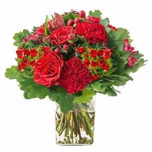 Bouquet De Fleurs Interflora : bouquet rond de fleurs vari es avec des roses en cama eu rouge interflora ~ Melissatoandfro.com Idées de Décoration