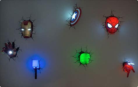 marvel avengers 3d led wall nightlight l hulk spiderman