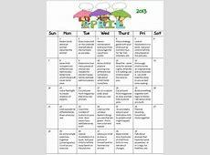 Get your parents involved! FREE calendar for PreK For