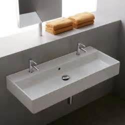 Kohler Reve Wall Hung Sink by 39 3 Quot Thin Line Series Teorema Wall Hung Or Vessel Sink