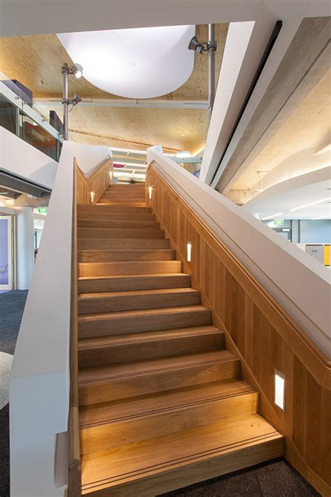 commercial building stair design  nz ackworth house
