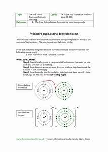 Gcse Worksheet For Drawing Dot And Cross Diagrams For