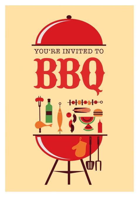 bbq invitation grill einladung postkarten