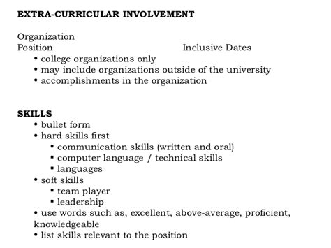 organizational communication skills resume resume writing