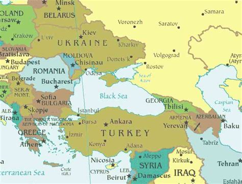 Black Sea Map - HolidayMapQ.com