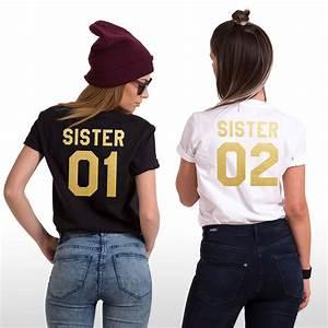 b2154dc2 sisters shirts sister 01 sister 02 matching siblings t shirts family tees  ebay