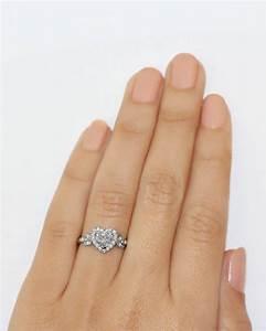 love blossom heart shaped diamond ring heart shaped With heart shaped engagement rings wedding bands