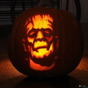 Frankenstein pumpkin halloween pumpkins pinterest for Frankenstein pumpkin carving