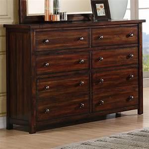 elements international boardwalk ds600dr dresser with 8 With becker home furniture becker mn