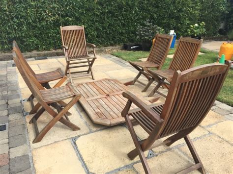 Garden Table And Chairs Sale by Solid Teak Garden Table And Chairs For Sale In Castleknock