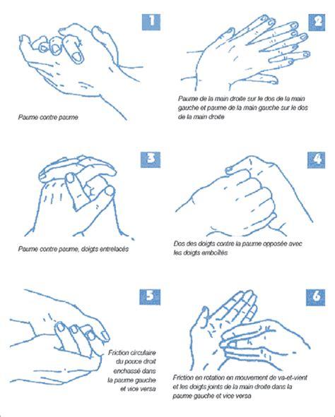 protocole de lavage des mains en cuisine procédure de lavage des mains avec une solution hydro