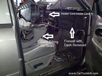 replace  heater core   chevy trailblazer
