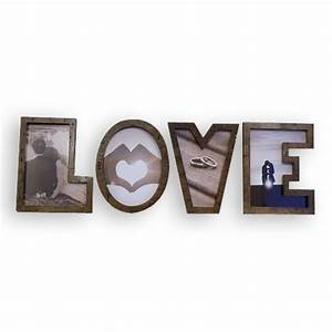 love letter wooden photo frame With letter photo frames