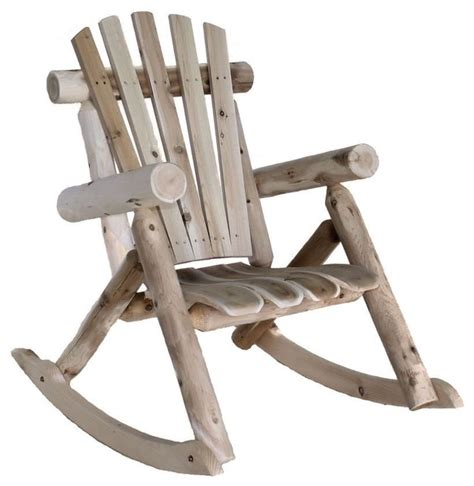 weather resistant cedar log rocking chair adirondack style