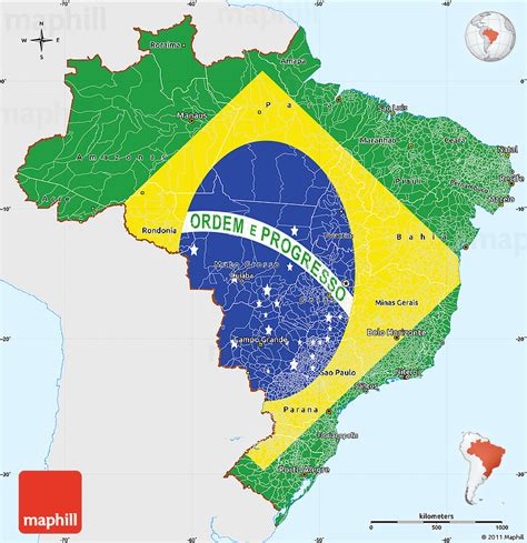 flag simple map  brazil single color
