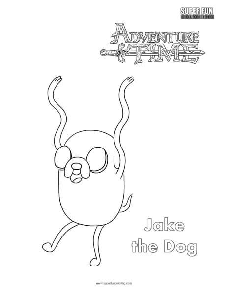 jake  dog adventure time coloring page super fun coloring