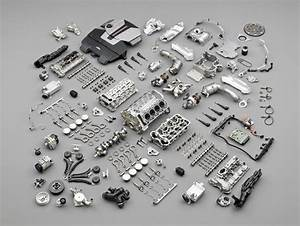 S63  S63tu  S63 V8 Components Exploded View Showing Block