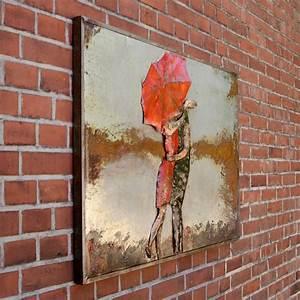 Wandbild Metall 3d : metallbild 3d wandbild small kiss 120x80x7cm dekobild in 3d optik liebespaar ebay ~ Watch28wear.com Haus und Dekorationen