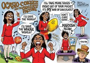 Image result for Ocasio Cortez caricature