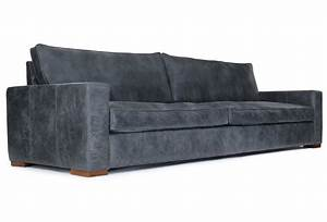 Battersea rustic leather large 4 seater sofa from old for Large rustic sectional sofa