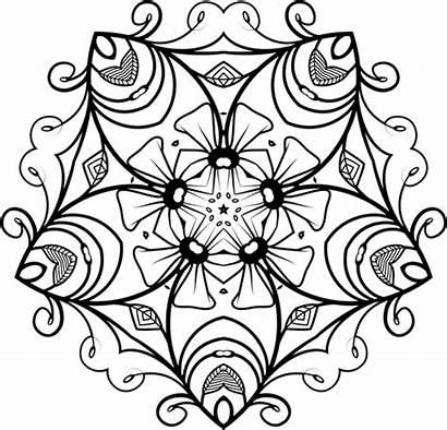 Putih Hitam Gambar Floral Motif Abstrak Bunga