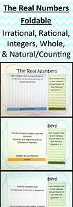 The Real Numbers Foldable  Irrational  Rational  Integers