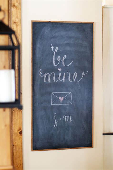 romantic chalkboard ideas  valentines day