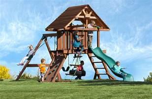 Kids Wooden Swing Sets
