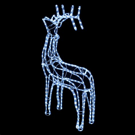 3d standing reindeer rope light white led christmas xmas