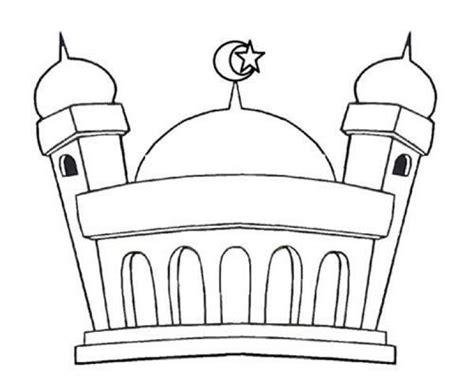 mewarnai gambar masjid untuk anak paud gambar buku