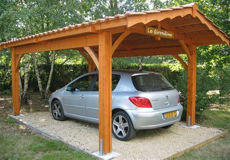 abri de voiture en bois abri voiture de qualit 233 en bois et tuiles robert l 233 glise 33
