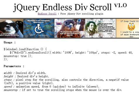 Jquery Scrolling Div by Jquery Scroll Plugins Jquery Script
