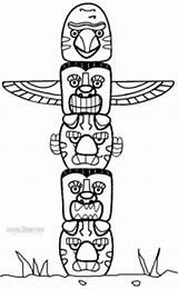 Totem Pole Coloring Pages Poles Printable Animal Animals Native American Cool2bkids Craft Templates Template Bear Crafts Zoo Clipart Sheets Printables sketch template
