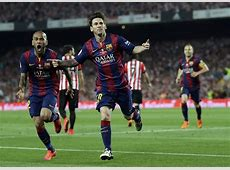 Amazing solo goal by Messi in Spanish Cup Final World