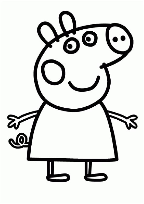 peppa pig coloring pages coloringpagesabccom