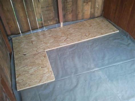 fußboden ausgleichen mit osb platten renovierung der gartenlaube teil 2 fu 223 boden mit verlegeplatten parzelle94 de