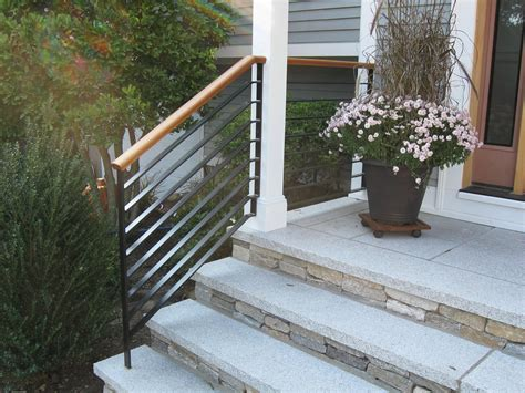 Exterior Handrails For Stairs Home Design Wood Water Heater