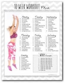 10 Week Workout Plan at Home