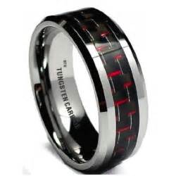 black wedding bands for carbon inlay mens tungsten carbide wedding engagement band ring